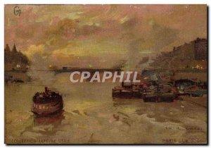 Old Postcard Fantasy Illustrator Luir Luigi Paris Ile St Louis