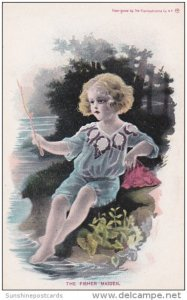The Fisher Maiden Young Girl Fishing