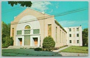 Neosho Missouri~Northside Baptist Church~Stained Glass Windows~Postcard~1950s