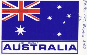 Australia Flag QSL Radio Card, 1980