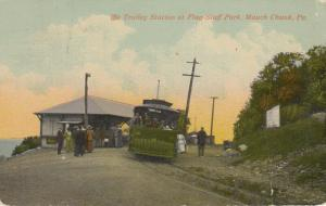 MAUCH CHUNK , Pennsylvania , PU-1914 ; The Trolley Station at Flag Staff Park