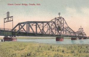 OMAHA , Nebraska , 1900-10s ; Scenic view, Illinois Central Bridge