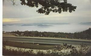 Dawn, as seen from Eastern Summit, the Mohawk Trail, Western Mass, Postcard