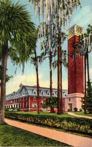Florida Deland Chaudoin Hall and Hulley Tower Stetson University Curteich