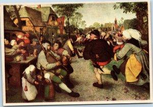 postcard The Peasant Dance by Pieter Breughel