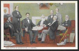 Painting Proclamation of Emancipation Washington DC Unused c1910s