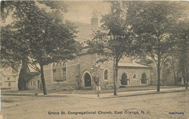 C-1910 Grove Street Congregational Church East Orange New Jersey Temme 12958