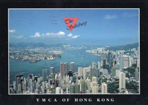 YMCA of Hong Kong Rare Large Aerial Postcard