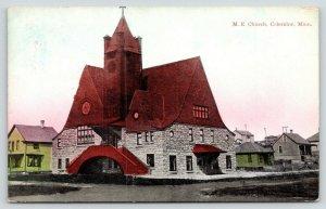 Coleraine Minnesota~Methodist Episcopal ME Church~Neighborhood Homes~1909 PC