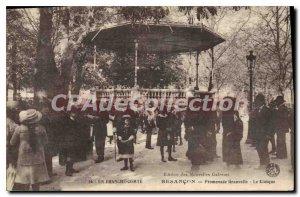 Postcard Old Promenade Granvelle Besancon Kiosk