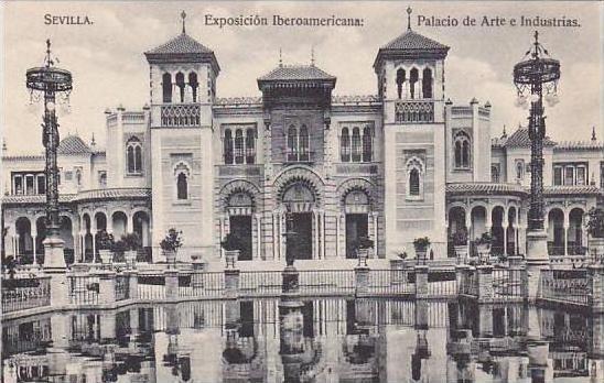 Spain Sevilla Exposicion Iberoamericana Palacio de Arte e Industrias