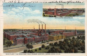 The Goodyear Tire & Rubber Co., Akron, Ohio, Early Postcard, Used in 1923