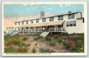 Camp Devens-Ayer Massachusetts~Enlisted Men's Club from Robbins Pond~c1916 WWI
