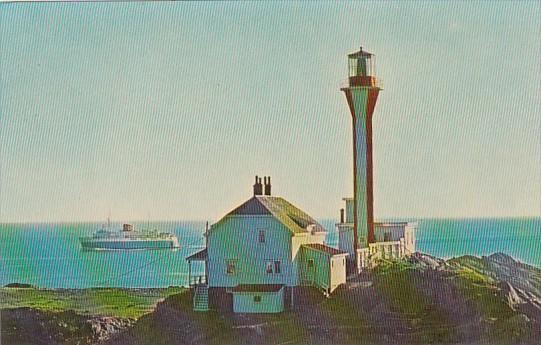 Canada M V Bluenose Passing Yarmouth Lighthouse