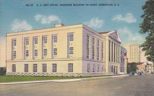 South Carolina Greenville U S Post Office Woodside Building To Right