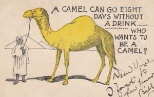 A CAMEL can go eight days without a drink...Who wants to be a CAMEL? , 1907