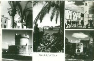 Croatia, Dubrovnik, multi-view 1960 used real photo Postcard