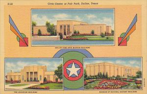 Texas Dallas Aquarium Museum Of Natural History and Fine Arts Museum 1942 Cur...
