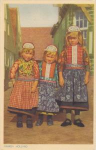 Netherlands Marken Children In Local Costume