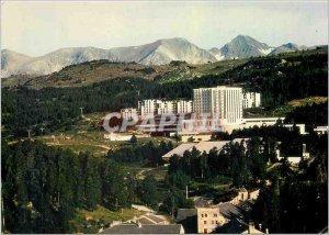 Modern Postcard the heart of Cerdagne Font Romeu (Pyr Orientales) Aerial view...