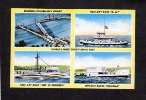 CA Redondo Beach California Fishing Boats  Manana GW Sportsfishing Postcard