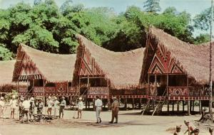 suriname, Movie The Spiral Road with Rock Hudson, Indonesian Houses (1962)