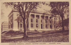 AMHERST MASS - CONVERSE MEMORIAL LIBRARY at Amherst College 1918