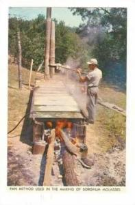 Pan Method Used in the Making of Sorghum Molasses, 50-70s
