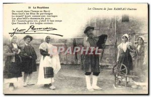 Old Postcard Folklore songs of Jean Rameau illustrees The baptism