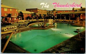 Las Vegas, Nevada Postcard THUNDERBIRD HOTEL Swimming Pool View / 1967 Cancel