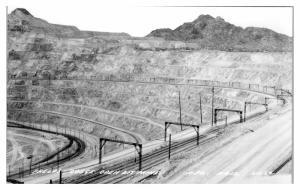RPPC Phelps-Dodge Open Pit Mine, Ajo, AZ Real Photo Postcard *5A