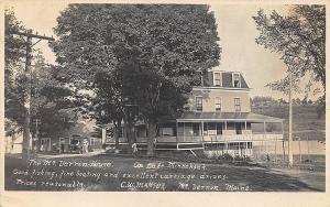 Mount Vernon ME House on Minnehonk Lake Fishing Boating etc. Postcard