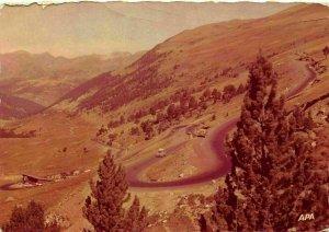 Valls d'Andorra Vista General Road Vintage Cars Panorama Postcard