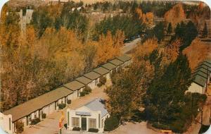 Rawlins Wyoming~O Driscoll Motel~Autumn 1957 Postcard