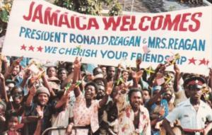 Jamaica Welcomes President & Mrs Ronald Reagan 11 April 1982