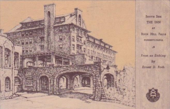 Pennsylvania Buck Hill Falls South Side Of The Inn 1960