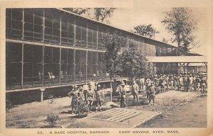 Base Hospital Barrack Camp Devens, Ayer, Massachusetts, USA Unused