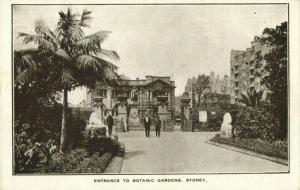 australia, SYDNEY, N.S.W., Entrance to Botanic Garden (1905) Postcard
