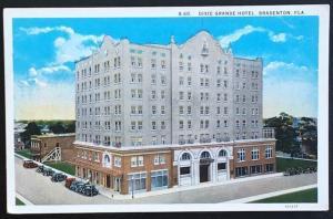 Dixie Grande Hotel Bradenton Fla Asheville Post Card Co B60