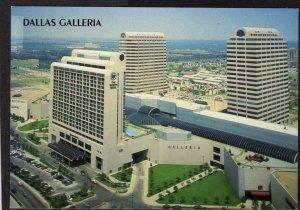 TX Dallas Galleria Shopping Center Stores Westin Hotel Postcard PC Texas