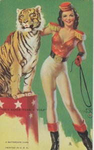 Pin-up He's safer than a wolf , 1930s
