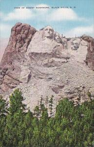 View Of Mount Rushmore Black Hills South Dakota
