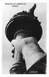 New York City~Close Up: Statue of Liberty's Torch~1940s Real Photo Postcard~RPPC