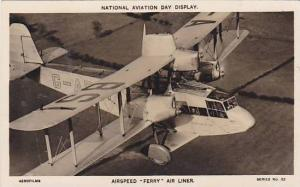 RP: Airspeed FERRY air Liner airplane, 1930s