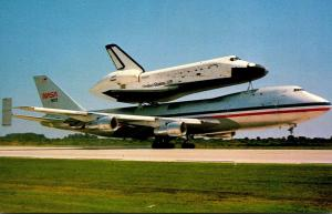 Florida John F Kennedy Space Center Space Shuttle Columbia Atop Boeing 747