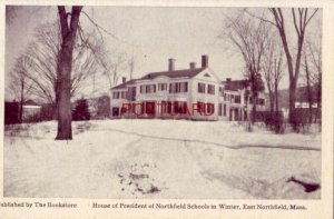 HOUSE OF PRESIDENT OF NORTHFIELD SCHOOLS in winter, EAST NORTHFIELD, MASS.