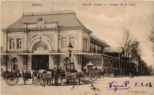CPA NEVERS - Marche Carnot - Avenue de la Gare (293215)