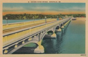 ANNAPOLIS, Maryland, 1930-40s; Severn River Bridge