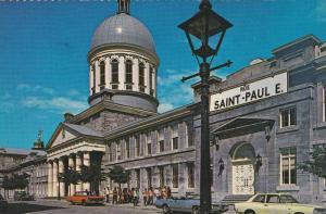 Street View of Old Montreal, Saint Paul E. Street, Bonsecours Market, Montrea...
