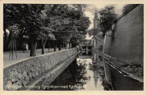 Denmark Helsinger Kronborg Fyrgraven med Fyrtaarnet River Promenade Postcard